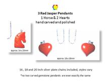 'MAGNETISM' gemstone gifts from Blue Naga Collections, this one includes red jasper hearts and horse pendants