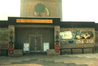 South Acton Oak Tree community mural project world theme