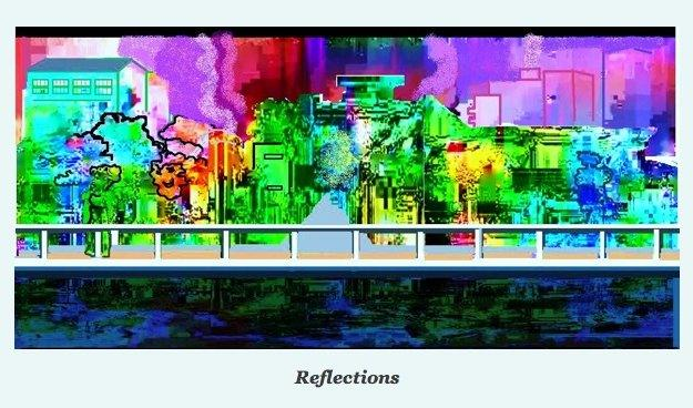 Reflections by Isabella Wesoly,  illustrating her blog December 2012
